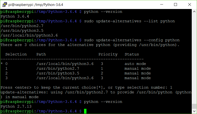 Install Python 3 6  On Raspbian (English) – Josef Matondang